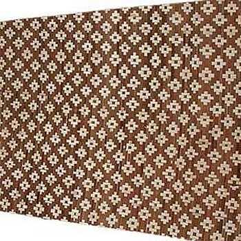Плита бамбуковая Цветы светлые HDT двухслойная 100 х 190