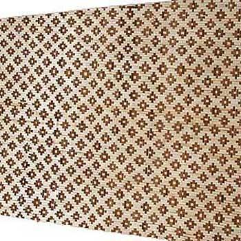 Плита бамбуковая Цветы тёмные HDM двухслойная 120 х 240