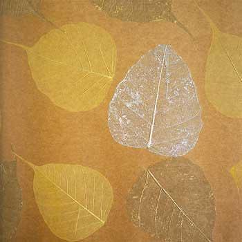 Обои натуральные Листья PWF-58