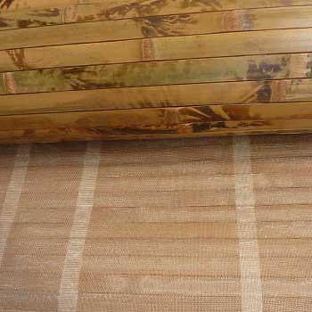 Бамбуковые обои коричневые с рисунком 100 см основа