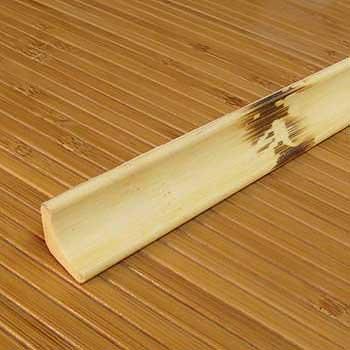Плинтус из бамбука натуральный с рисунком фото