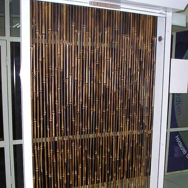Штора бамбуковая комбинированная фото