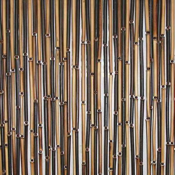 Штора бамбуковая комбинированная