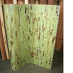 Бамбуковые обои фисташковые с рисунком 17 мм 180 см