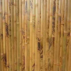 Бамбуковые обои коричневые с рисунком 90 см