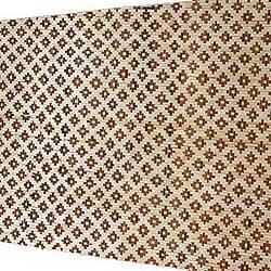 Плита бамбуковая Цветы тёмные HDM двухслойная 100 х 190