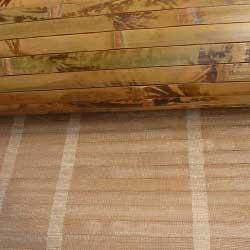 Бамбуковые обои коричневые с рисунком 180 см. Основа.