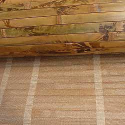 Бамбуковые обои коричневые с рисунком 90 см основа