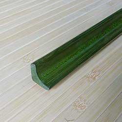 Плинтус из бамбука зелёный