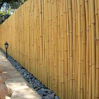 Забор декоративный из бамбука