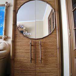 Отделка бамбуком мебели