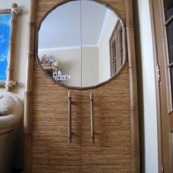 Оформление бамбуком мебели