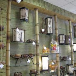 Оформление полок бамбуком