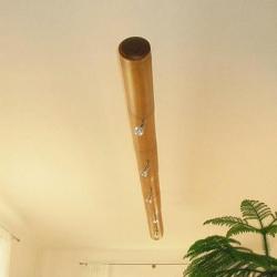 Декоративная люстра из бамбука