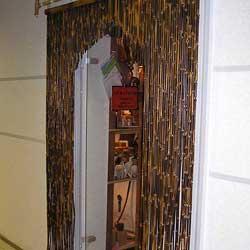 Бамбуковые шторы арочного типа