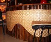 Монтаж  бамбуковых панелей